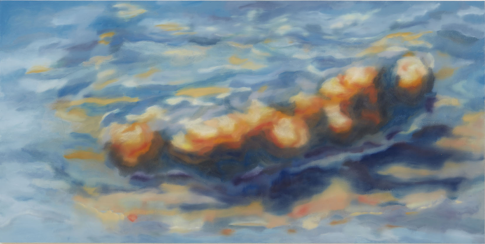 Wilder Shore , 2018 oil on panel 21 x 42 inches