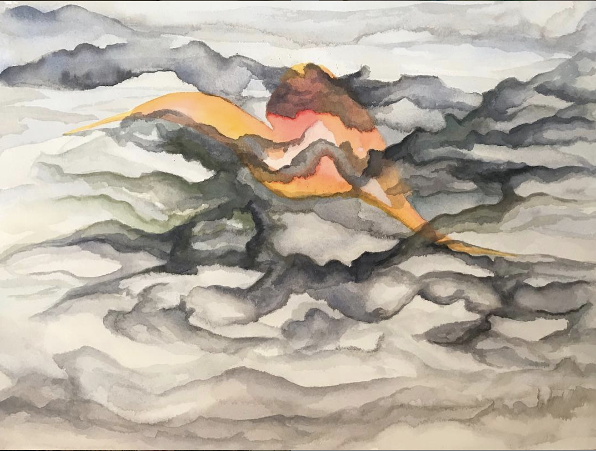 Returning Glimpse , 2018 Watercolor on paper 12 x 16 inches
