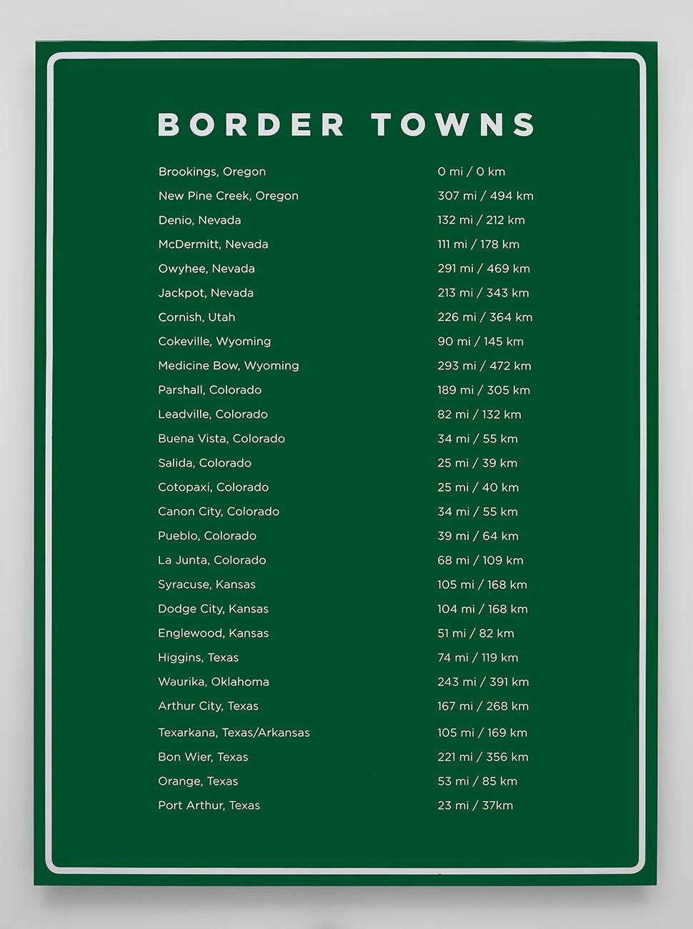 Border Towns, 2016