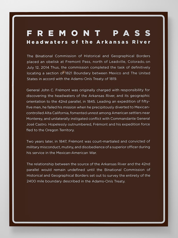 The Missing Roadside History - Fremont Pass, 2016