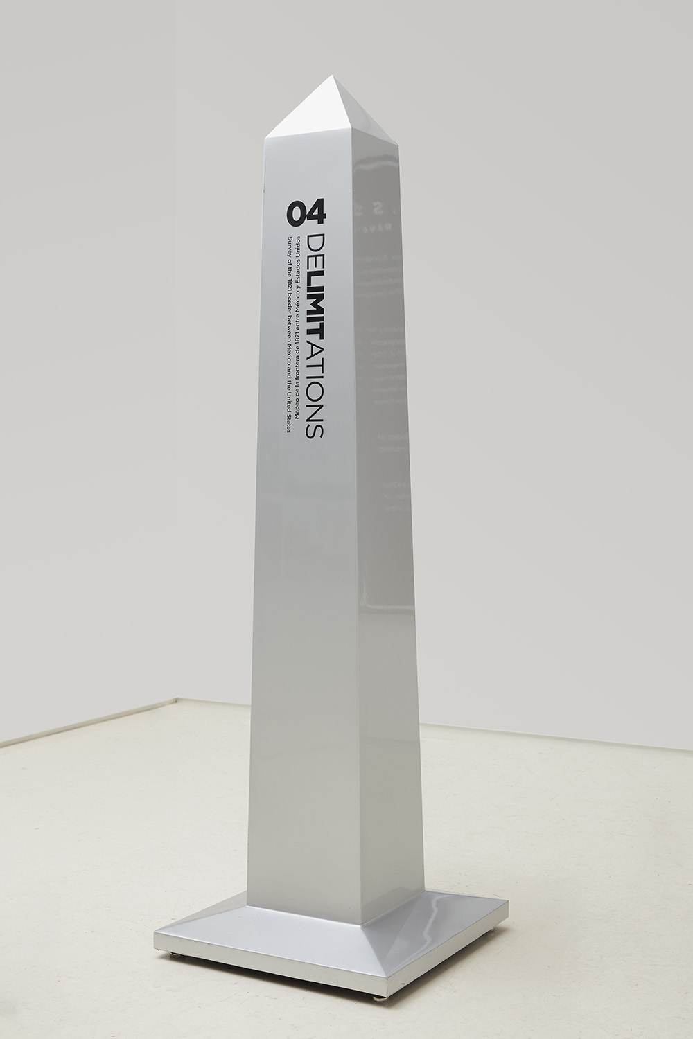 Obelisk 04, 42° 0.206'N 123° 53.340' W,  2014 Automotive paint and vinyl over steel 80 x 24 x 24 inches Edition of 3 per location + 2 AP