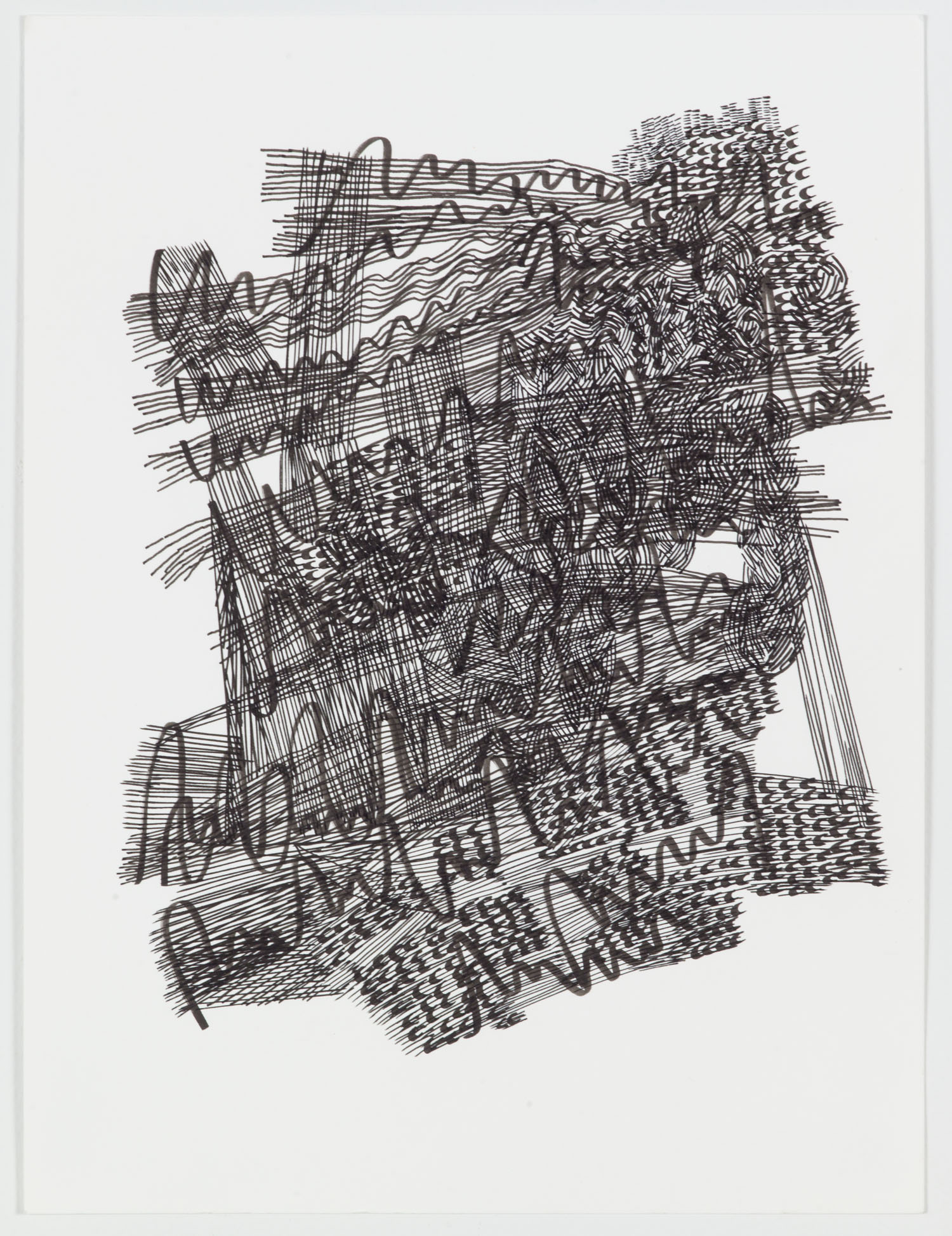 Handwriting , 2018 ink on hot press paper 12 x 9 inches