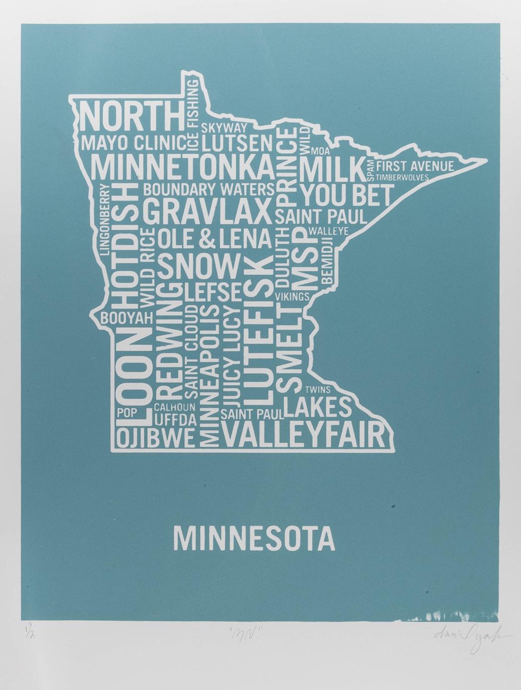 Minnesota White Dan Yaker Screen Print.jpg
