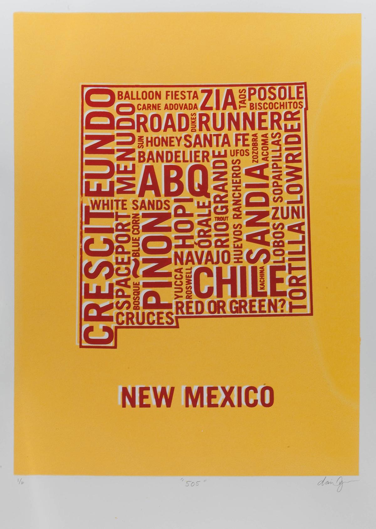New Mexico Yellow Dan Yaker Screen Print.jpg
