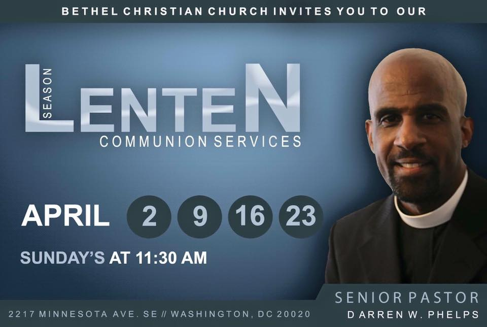 2017 Lenten Season Communion - Sundays April 2, 9, 16 & 23