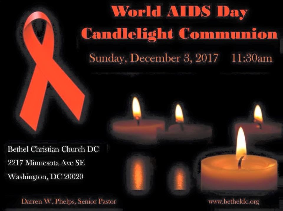 December 3, 2017 - World AIDS Day Candelight Communion