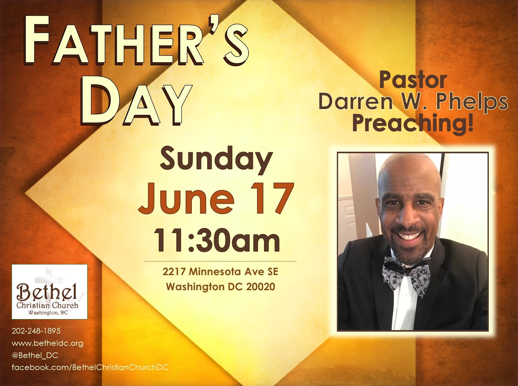 June 17, 2018 - Father's Day. Pastor Darren preaching.