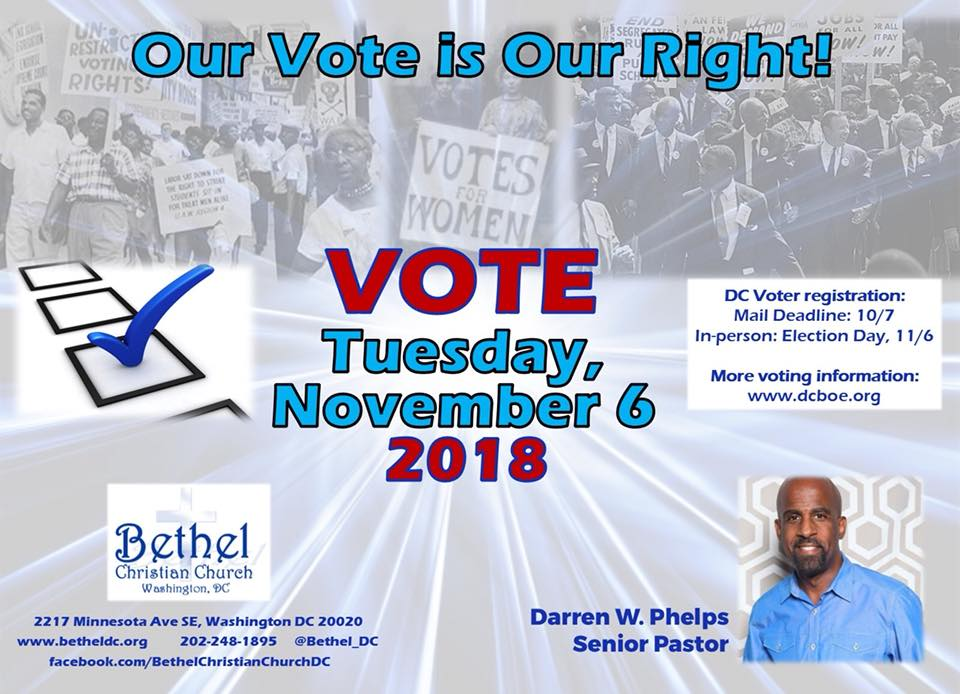VOTE Tuesday November 6th. Visit www.dcboe.org for information on registration and voting.