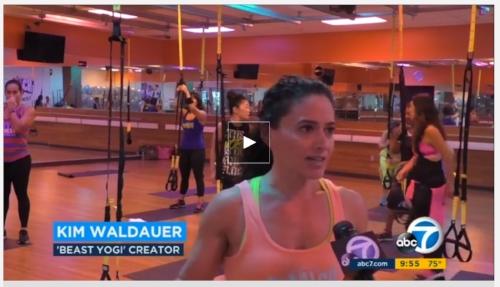 "ABC feature on  ""Beast Mode Yogi""  class, Sept. 2016"
