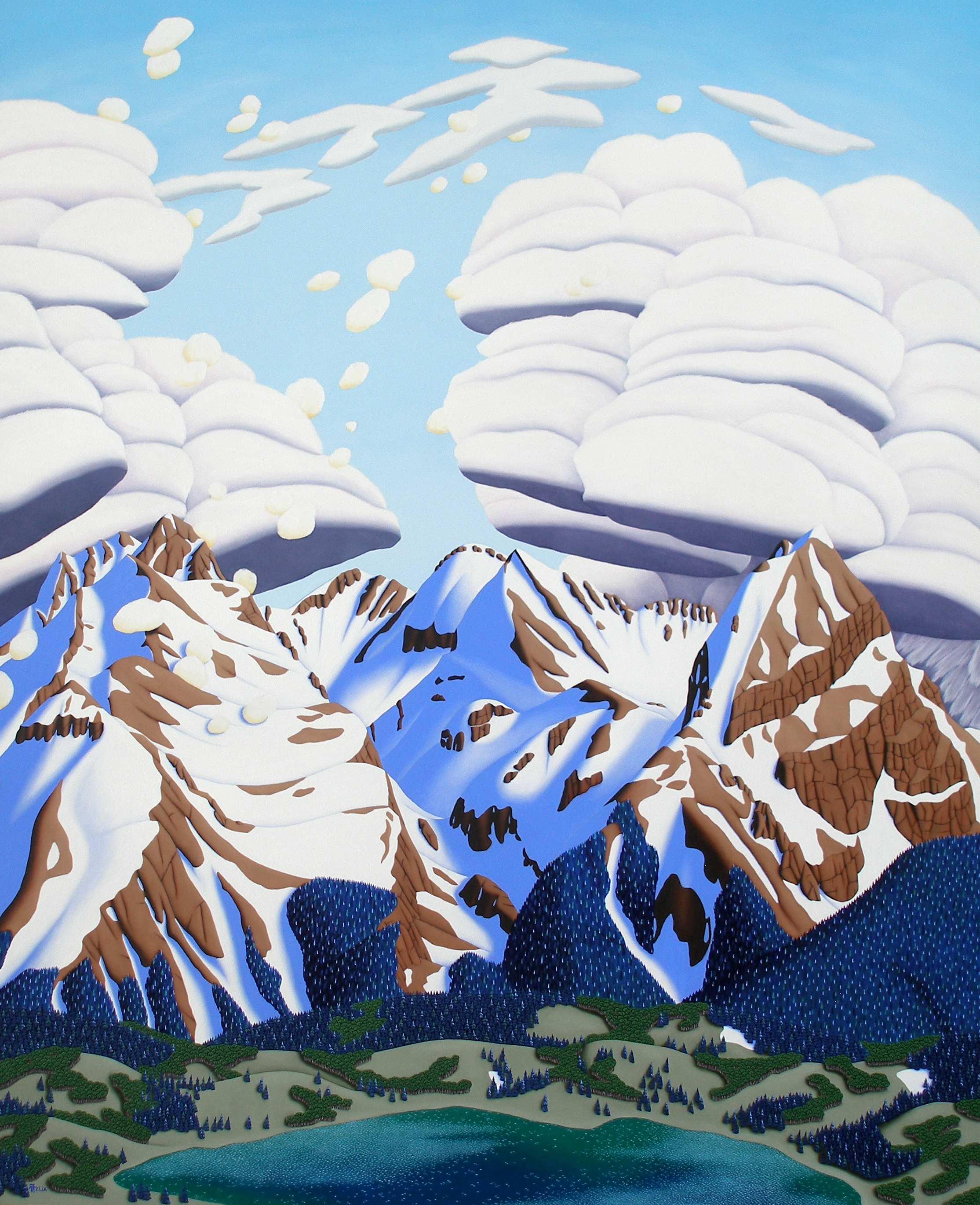 "Grenadier Range from Molas Lake | Oil on panel | 60"" x 49"""