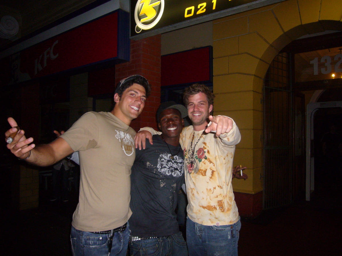 Kenny, Alton, Me in South Africa (Inferno III 2007)