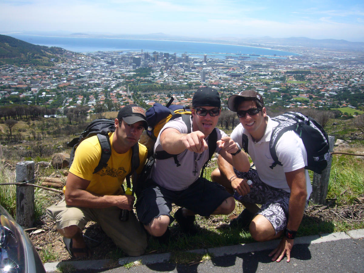 Ace, Me, Kenny overlooking Cape Town South Africa (Inferno III 2007)
