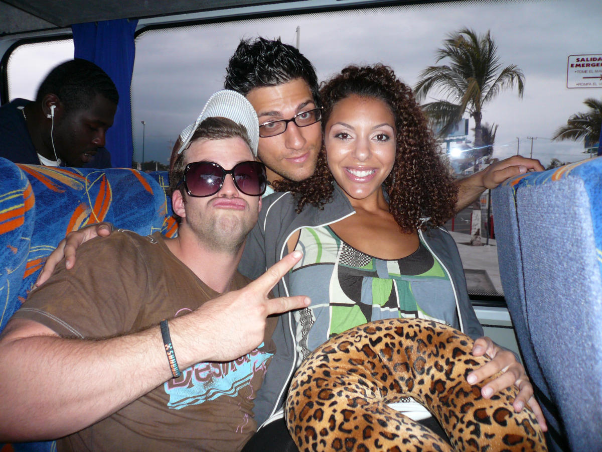 On the bus heading to the Challenge house (Gauntlet III 2008)