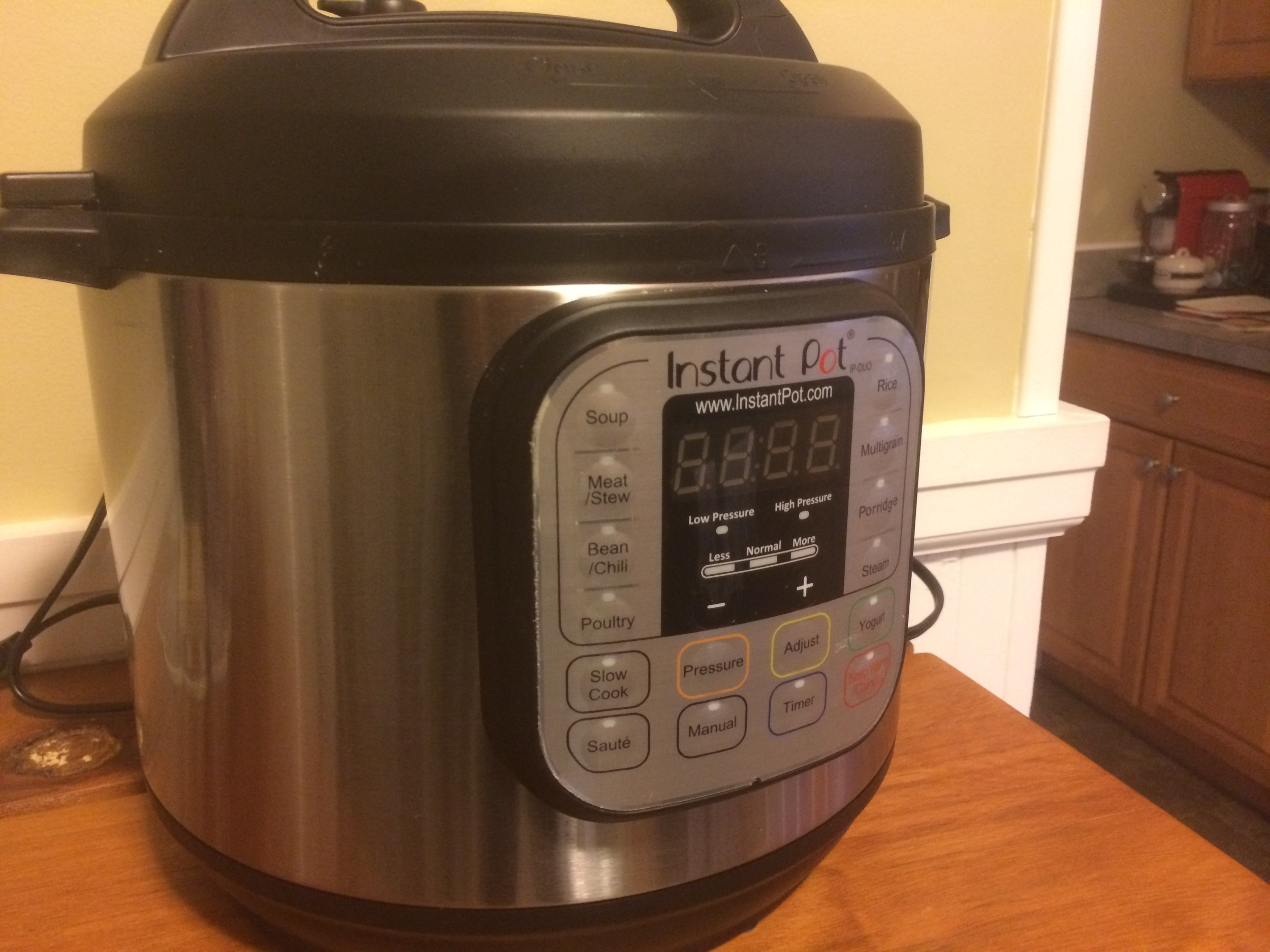 Our newest kitchen gadget - the Instant Pot 7-in-1 Pressure Cooker!
