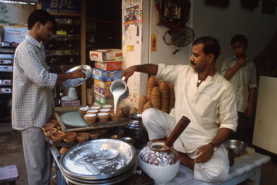 Lassi merchant in India