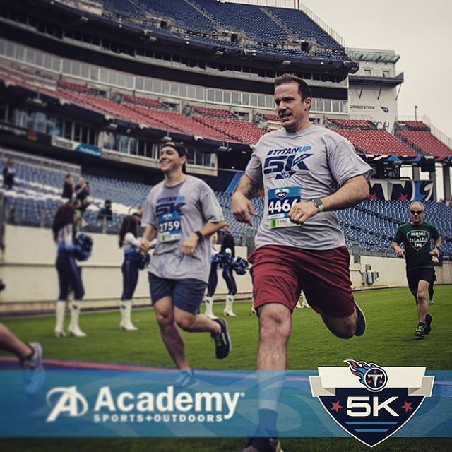 Great run this morning at the @titans 5k!
