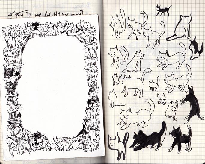 Cat Sketches - Dana Jeri Maier