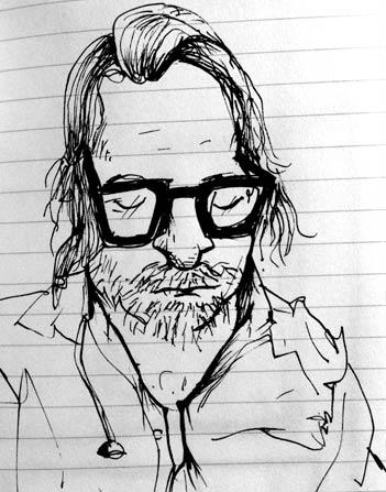 Sketch of Ben Kronberg