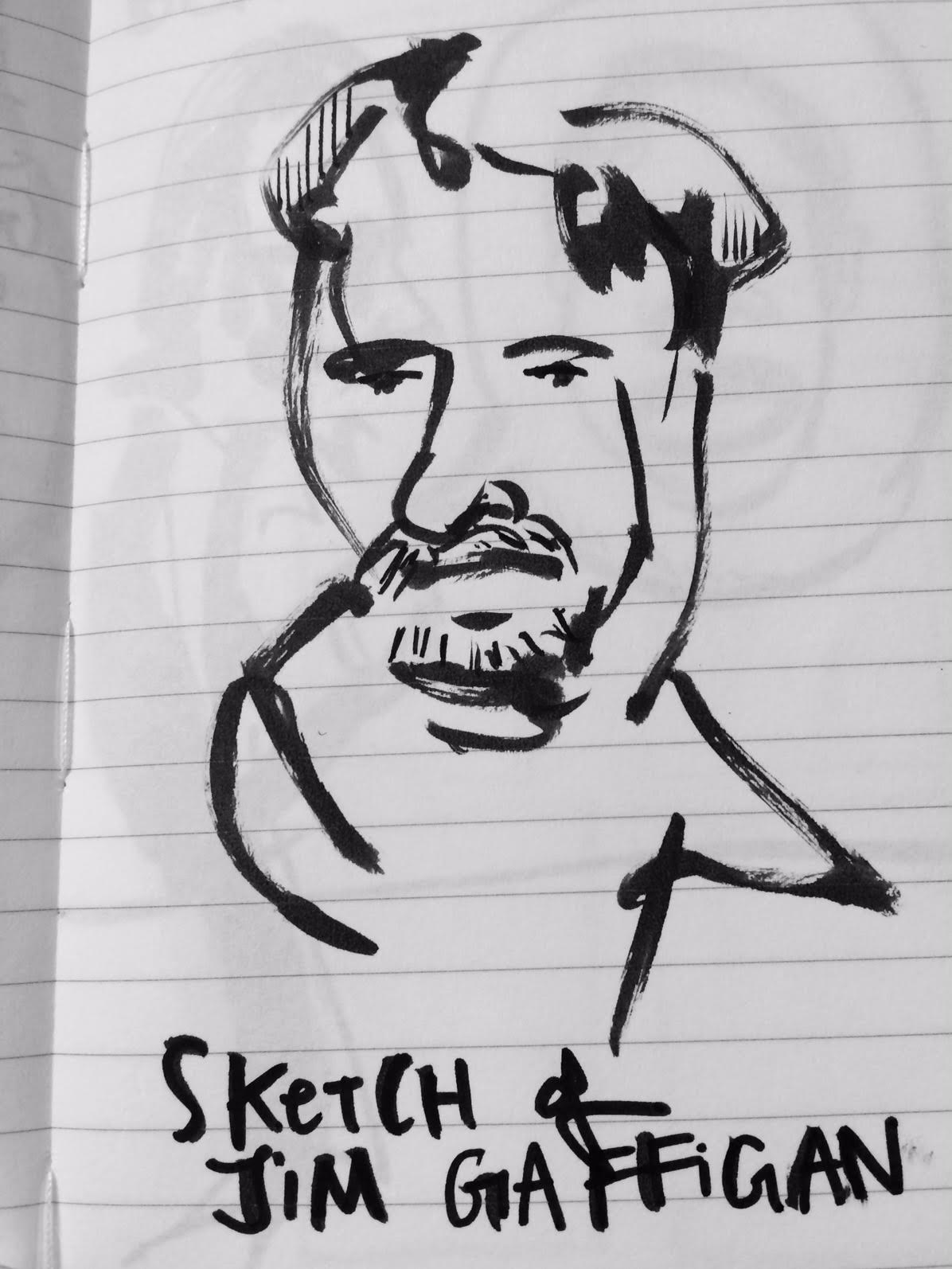 Quickie sketch of Jim Gaffigan.