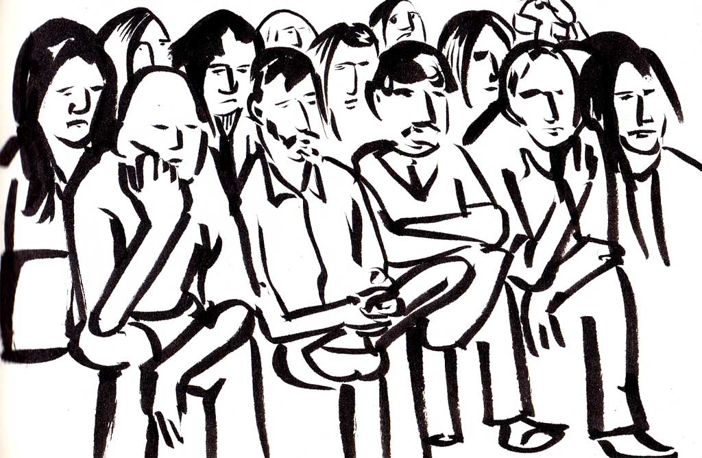 Crowd scene. I did many of these.