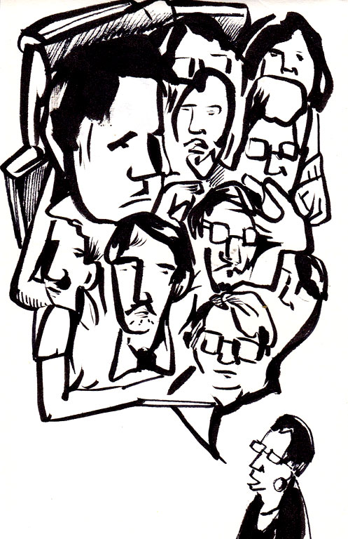 Erica Lee Schlaikjer & faces that I turned into a word bubble, for some reason.