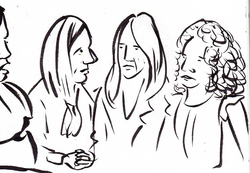 Panel with  Amy Brittain ,  Tammy Cho  and Mattie Larson.