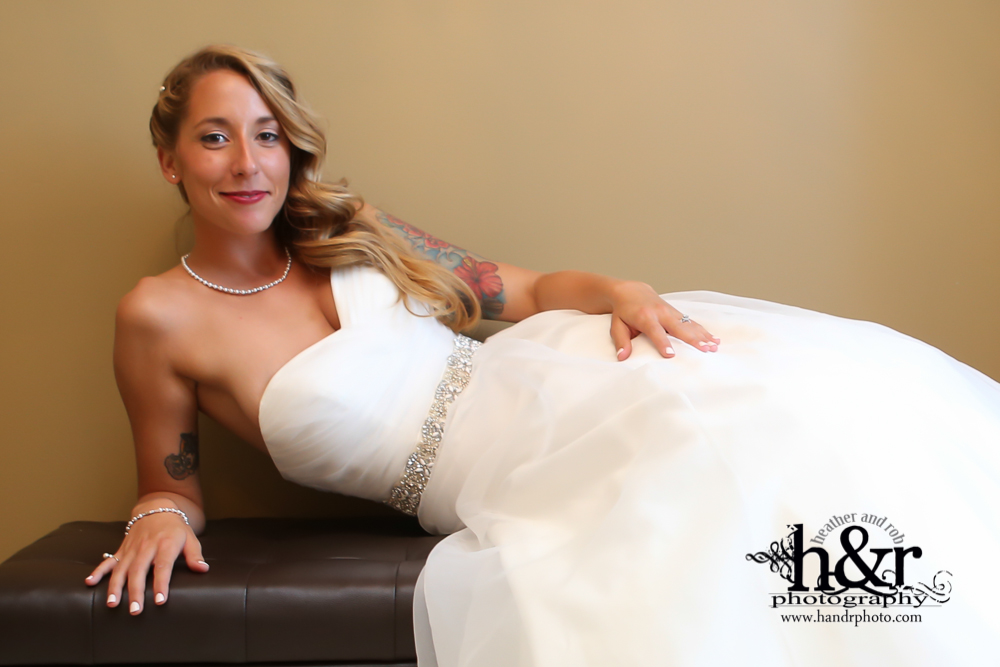 Alicia Baker actually taking a small break at her wedding!
