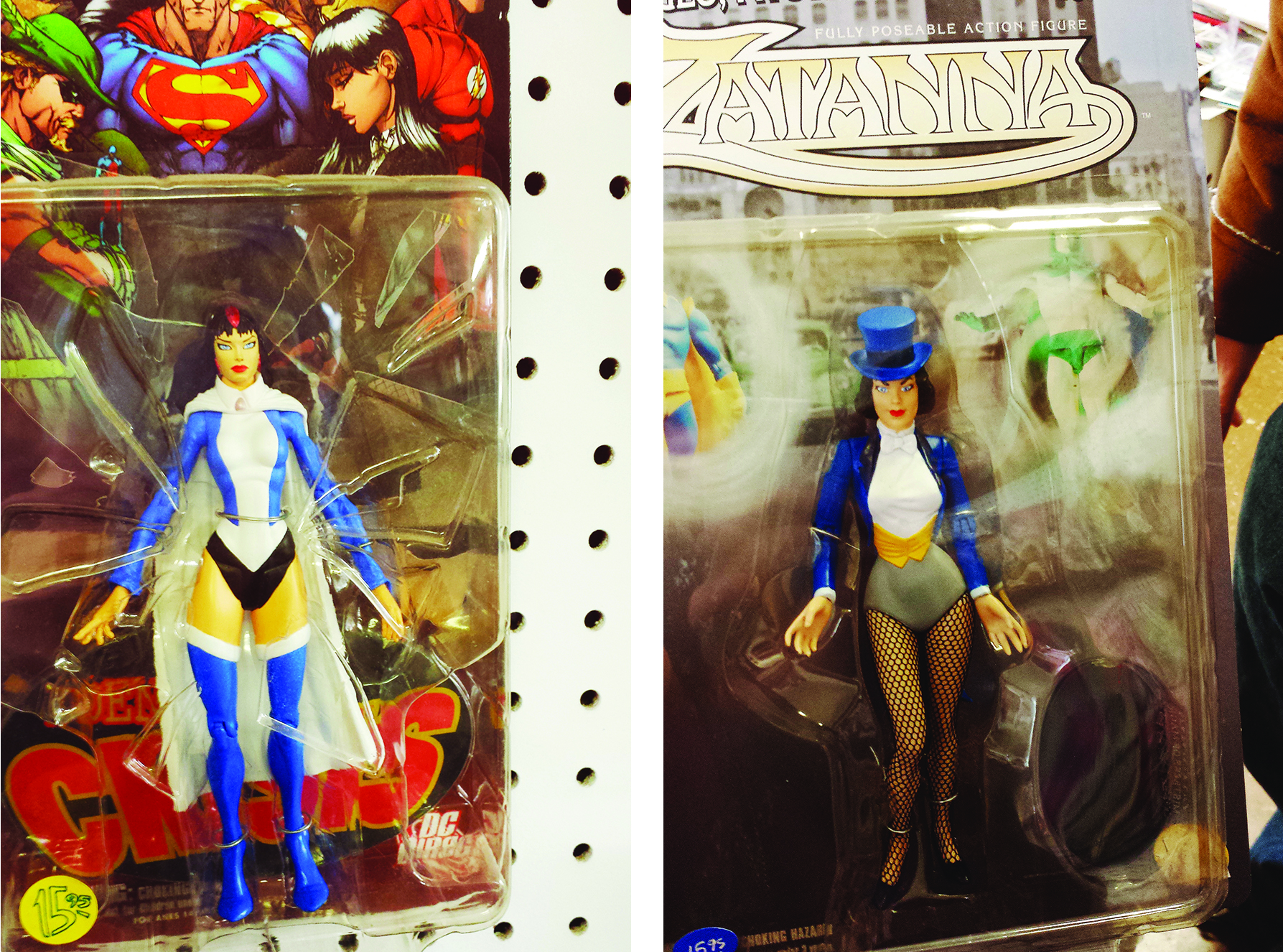 Some groovy Zatanna figures.