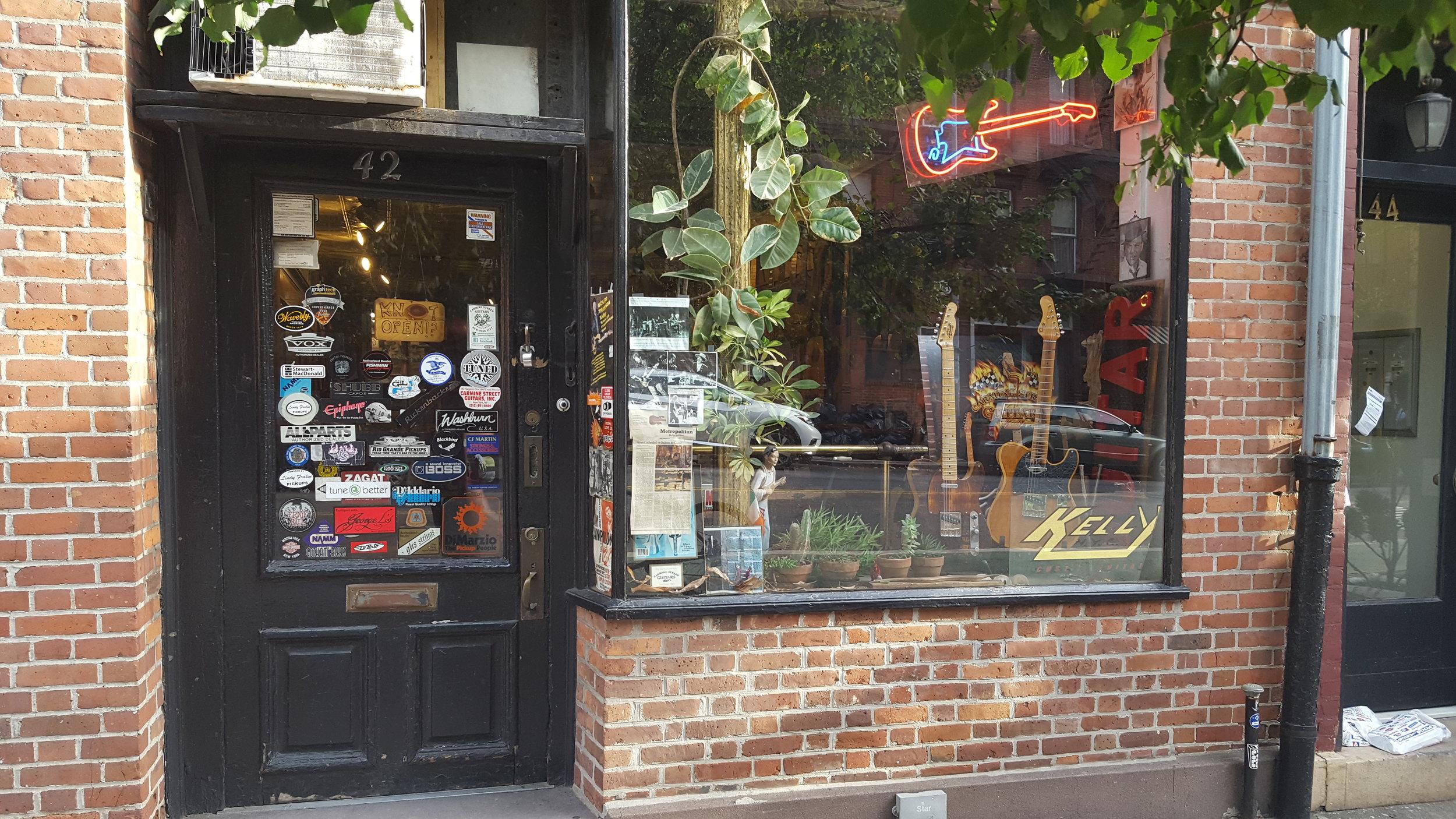 Carmine Street Guitars storefront