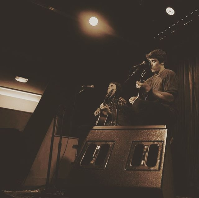 #tbt with my guy @trevgoodorwin. Let's do this again sometime, friend. #livemusic #boston #berklee #939 #investigate311 #legalizeranch #cafe939 #acoustic #vibez #unplugged #instamusic #lamusic