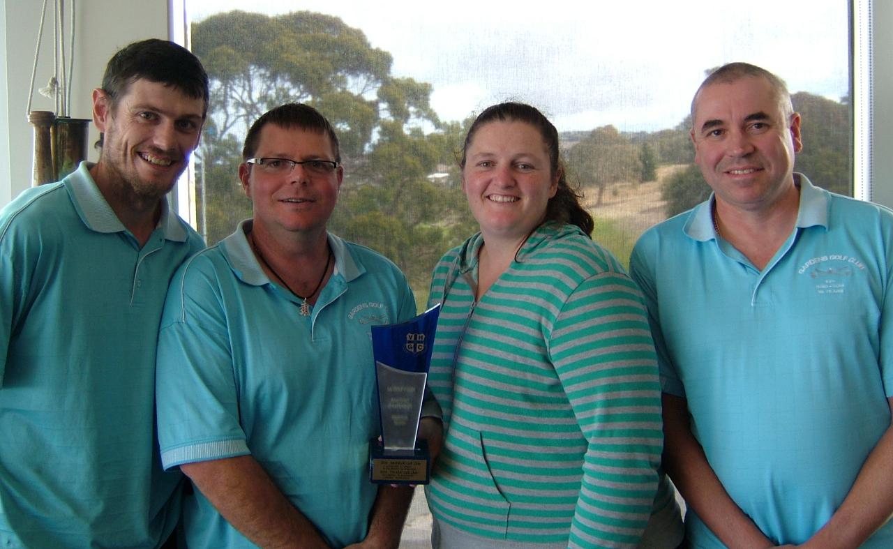 2015 Group 4 Winners Gardens Golf Club-Kieran O'Connor, Mark Love, Shannon O'Connor & Nick Joyce..JPG
