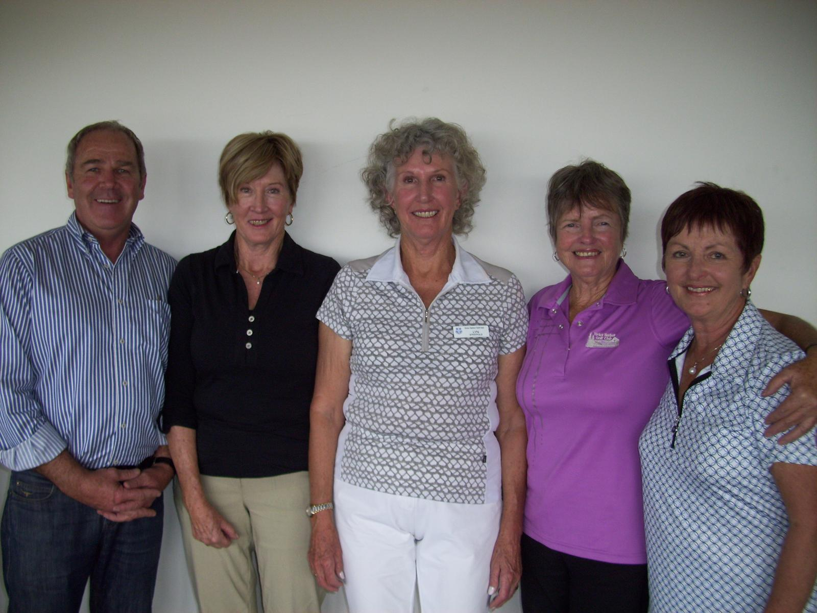 L to R: Alan Kluske, Julie Howard, Lyn Stratfold, Marie Wickstein and Bev Kluske