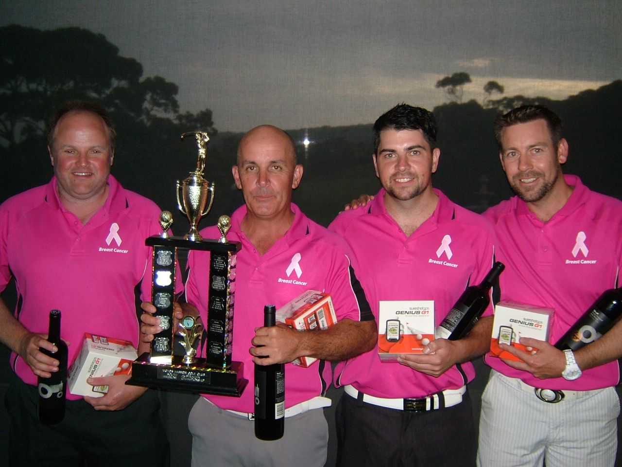 2016 Gross Event Winning Team  L - R: Steve Gow, Glenn Gambrell, Brad Altmann & Owen Hocking from Mt Barker-Hahndorf Golf Club