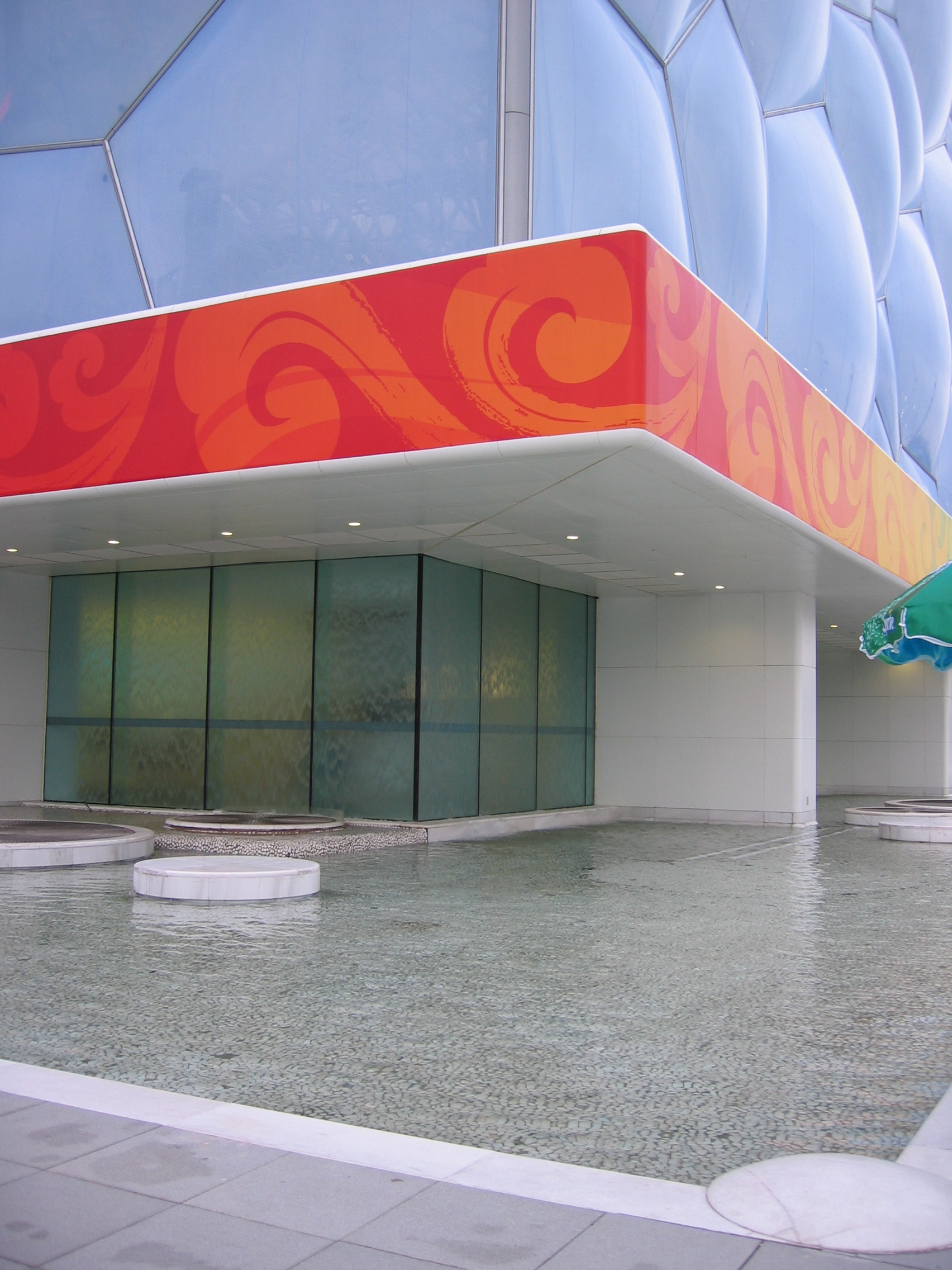Water Cube main entrance