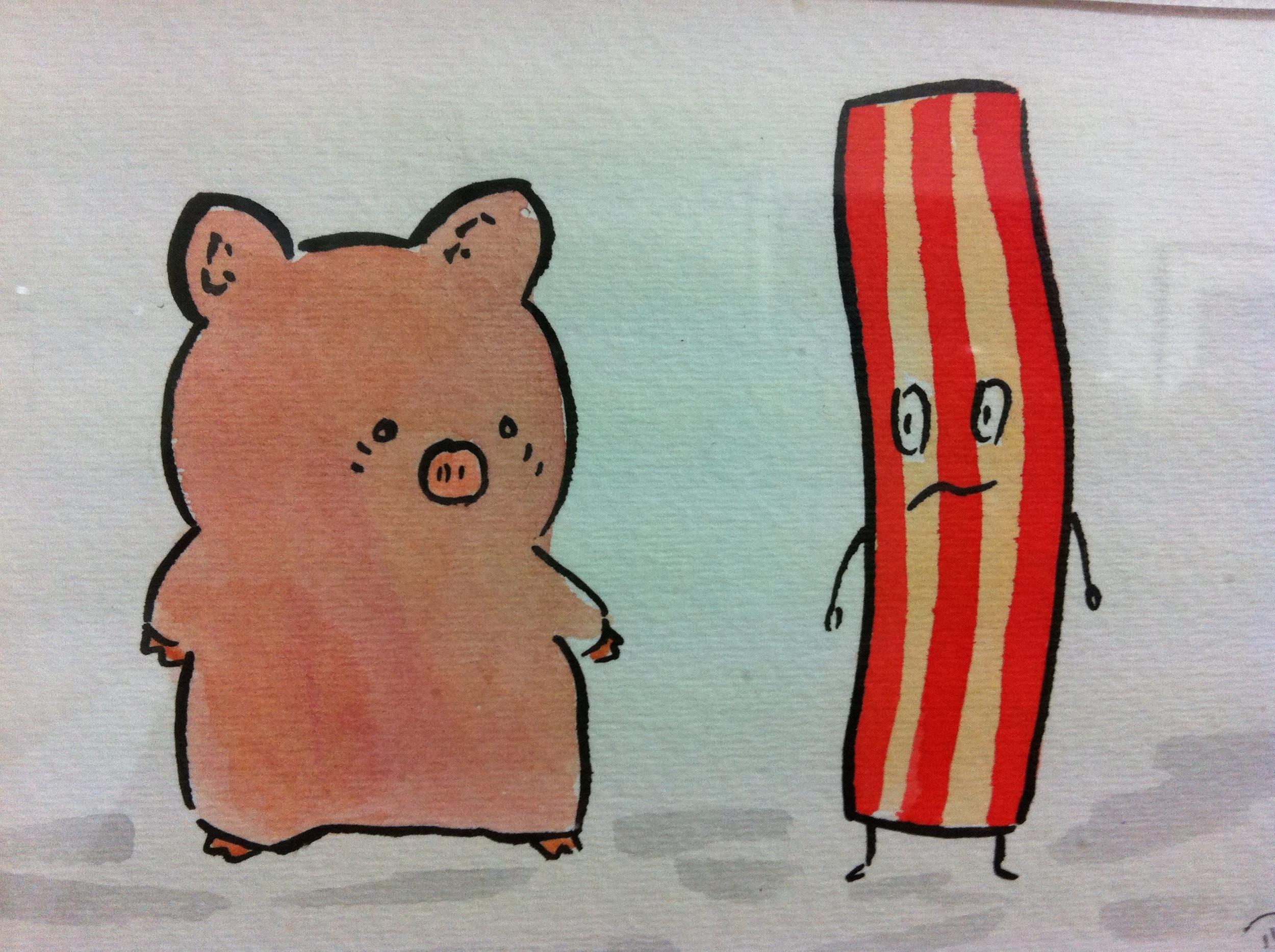 Zashikibuta Meets Shaky Bacon, Dan Goodsell