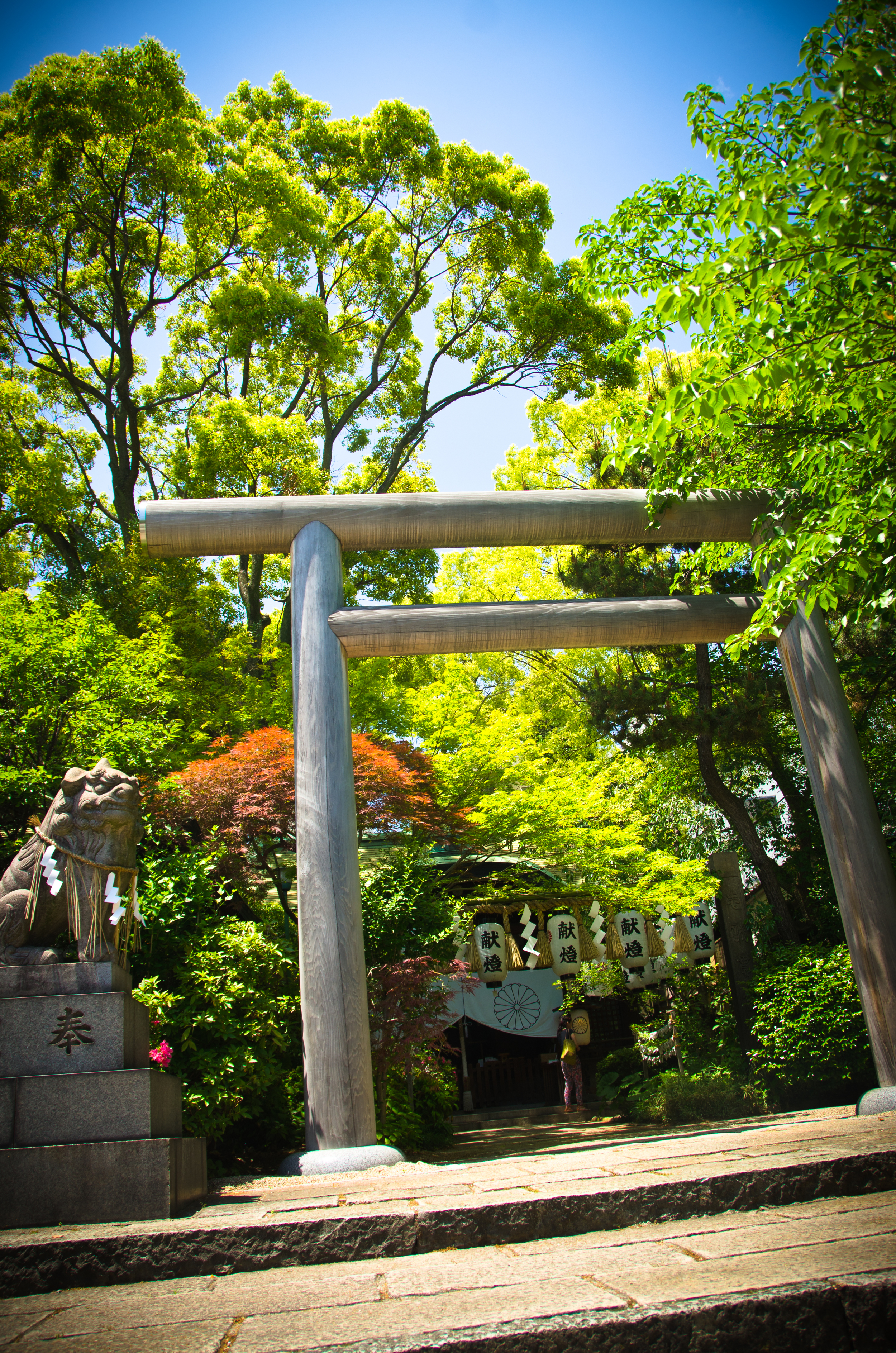 A small shrine on the walk from the subway to Tennoji Park