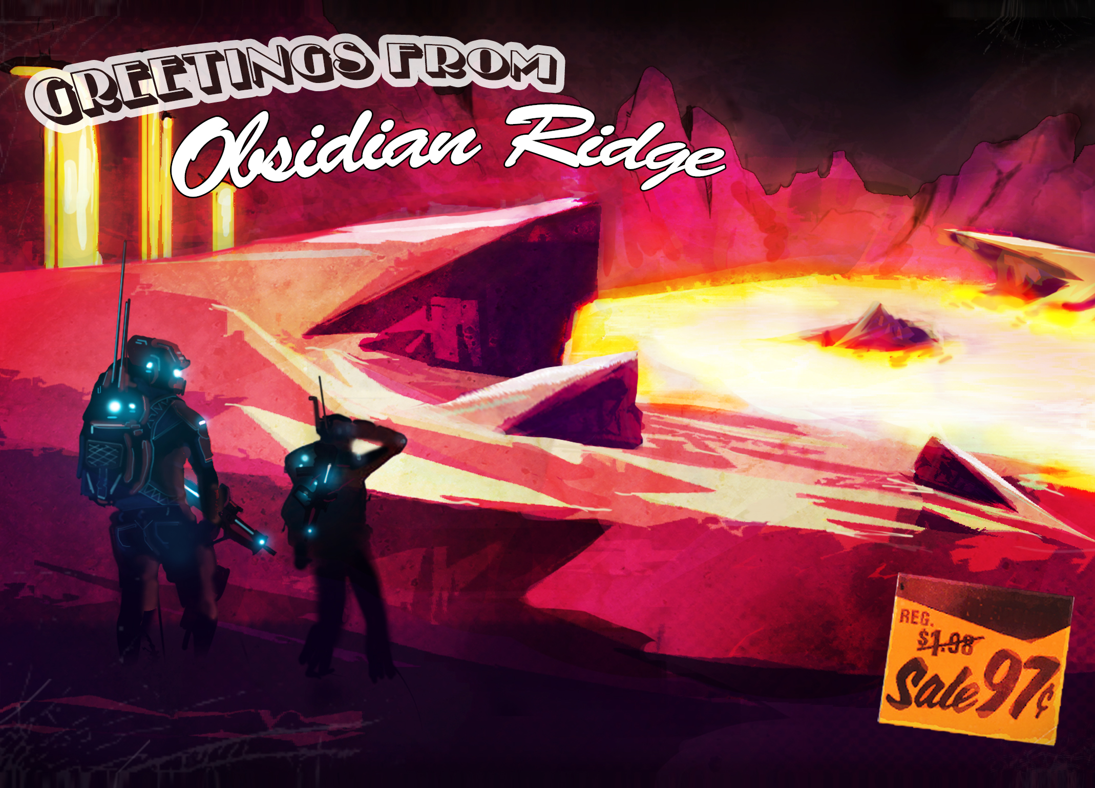 Obsidian Ridge Greeting Card