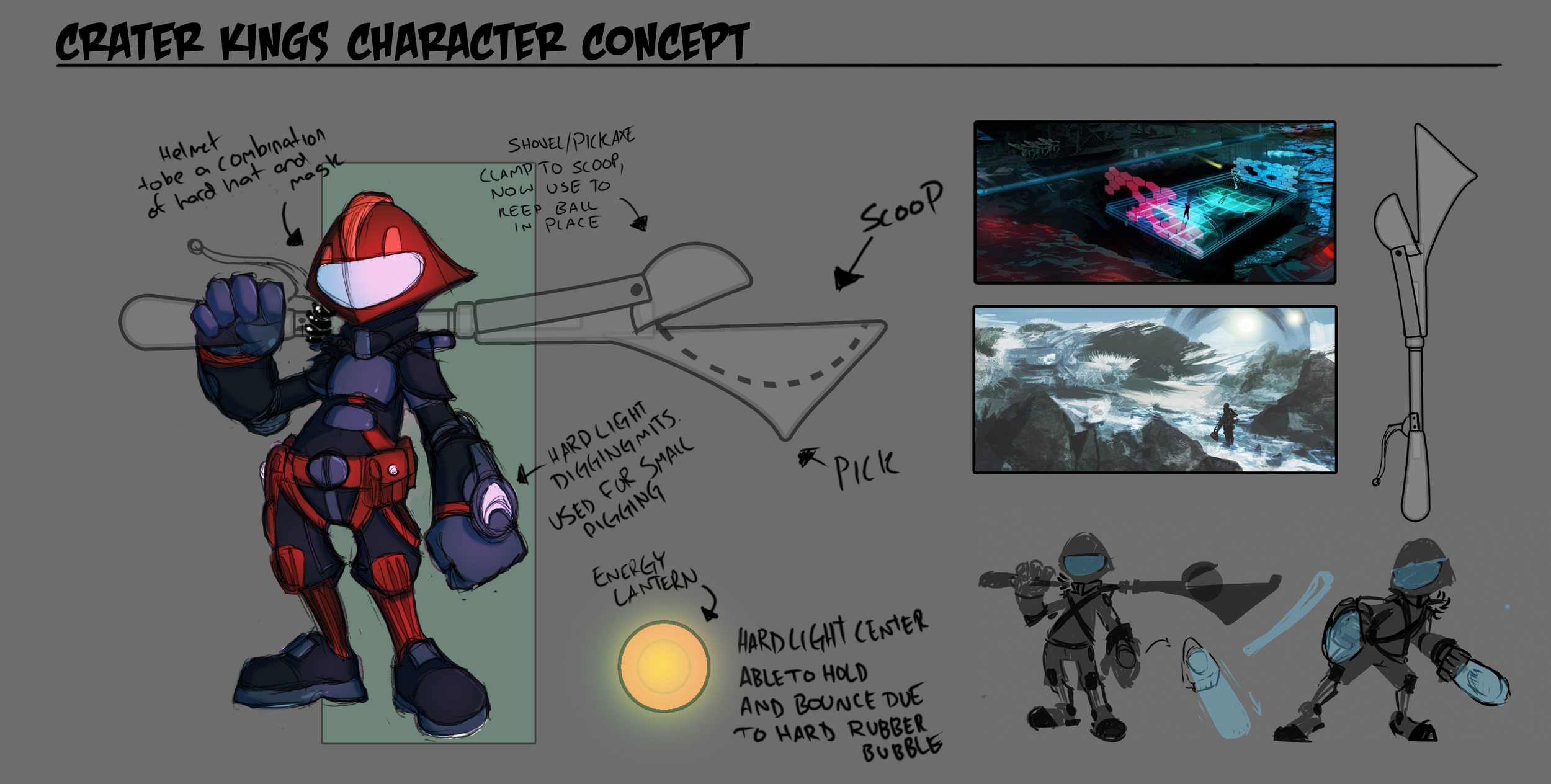 Crater Kings Miner Concept
