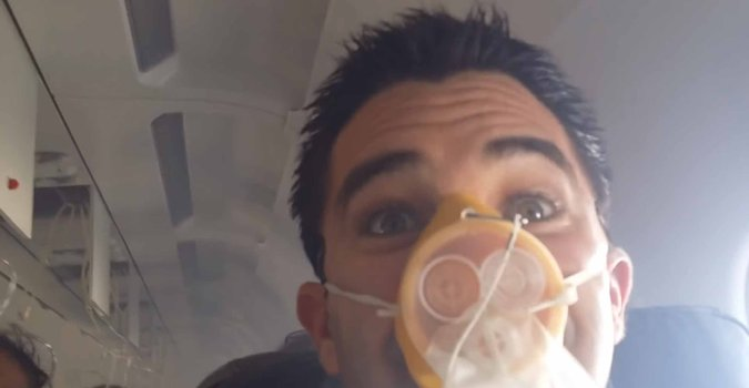 Scott Welch's video as his JetBlue flight filled with smoke went viral, to mixed reviews.   Credit Via Jukin Media