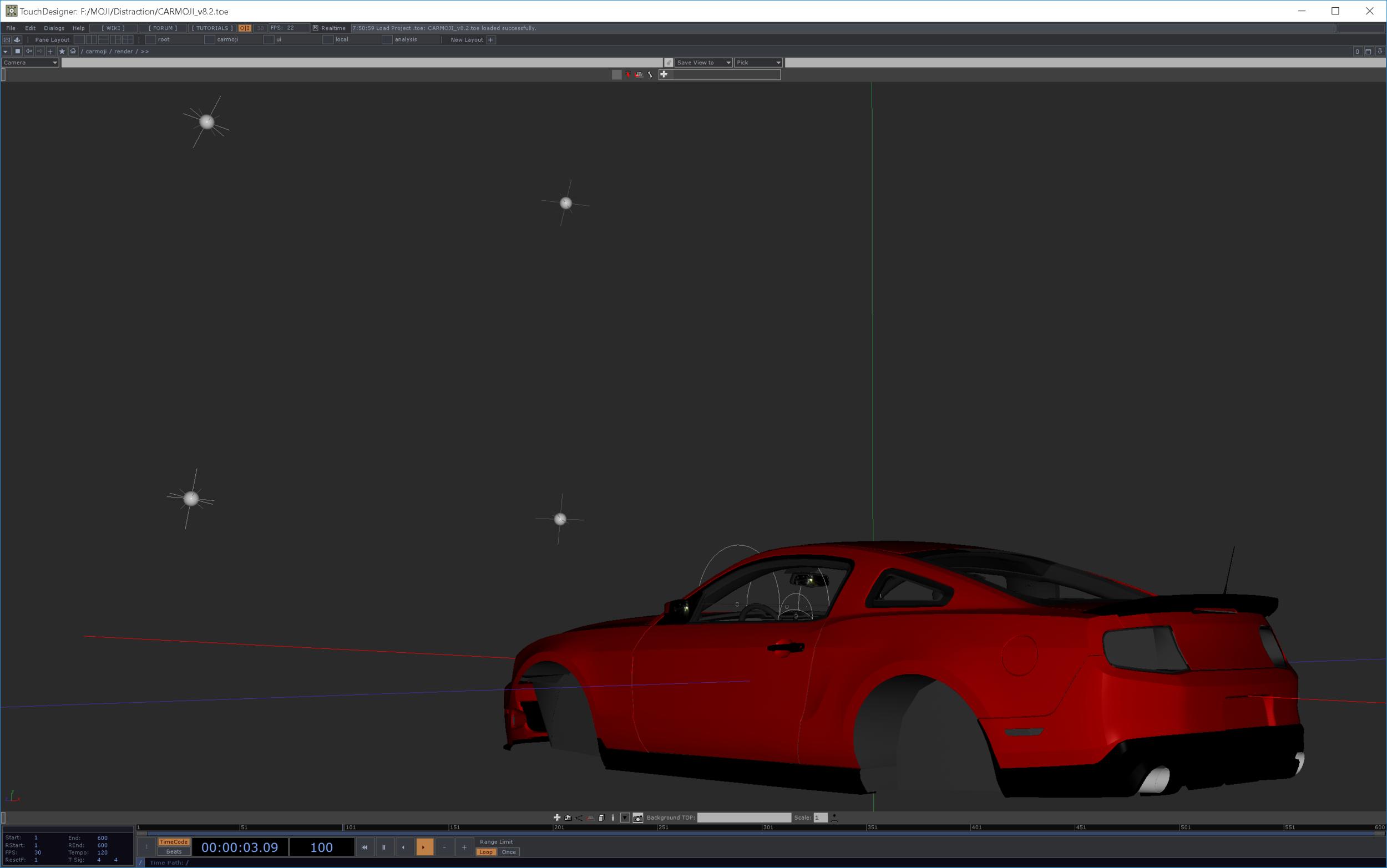 Virtual car model