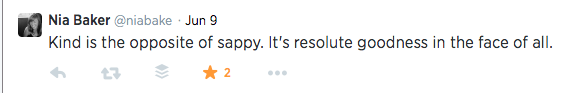 I can always count on @niabake for a concise yet courageous tweet.