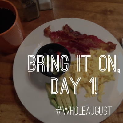 **Written from my favorite coffeehouse on Saturday, eating my (almost) Whole30 compliant breakfast.