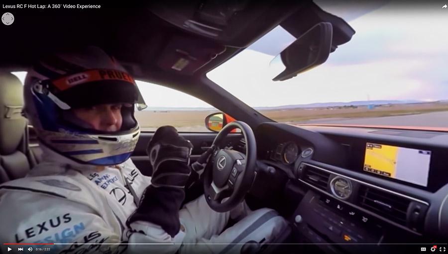 The cars were piloted by Lexus racing legent, Scott Pruett.
