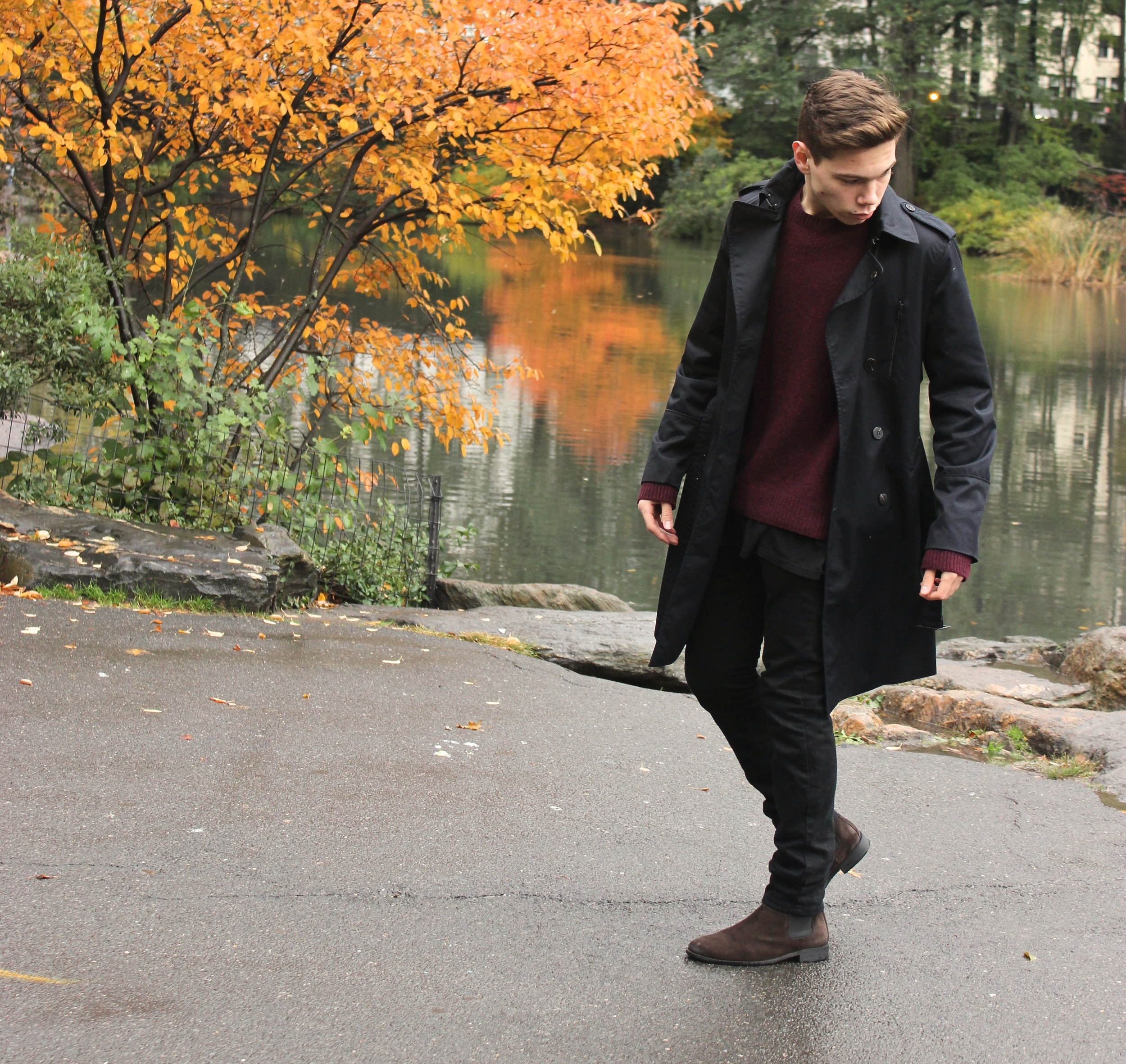 H&M Jacket and boots, Margiela sweater, topman jeans.