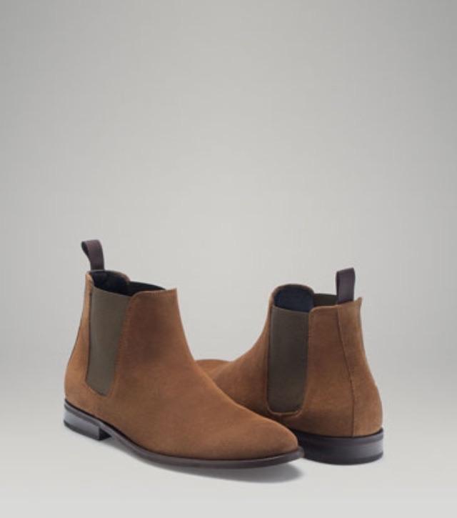 Massimo Dutti Tan Chelsea Boots