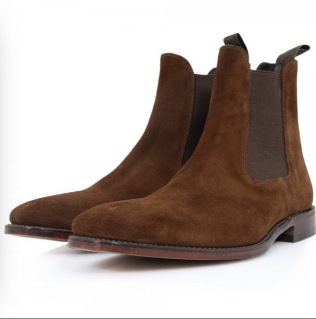 Loake Mitchum Brown Suede Chelsea Boots
