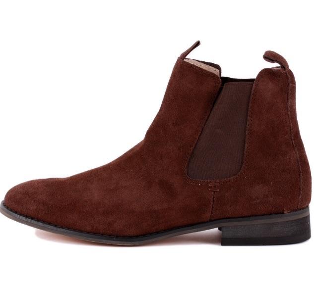 Bellfield Lucifer Suede Dark Brown Chelsea Boots