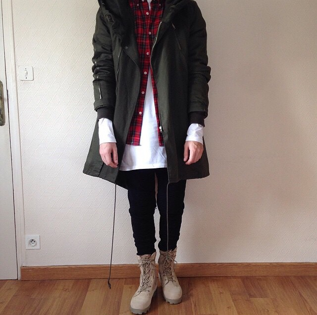 @imjvii wearing layers with his boots.