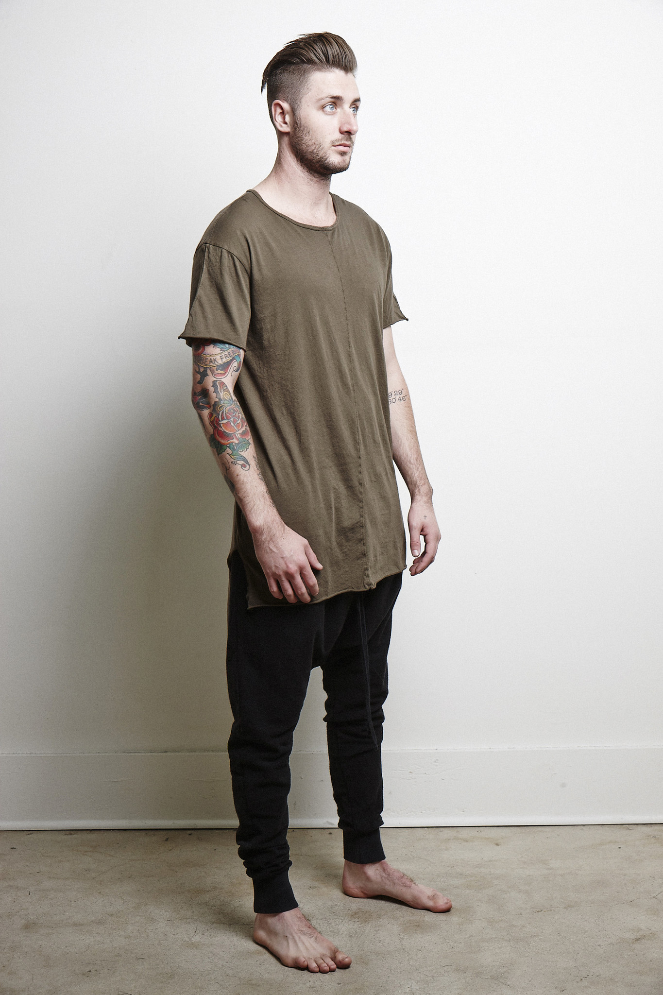 Olive Extended Tee
