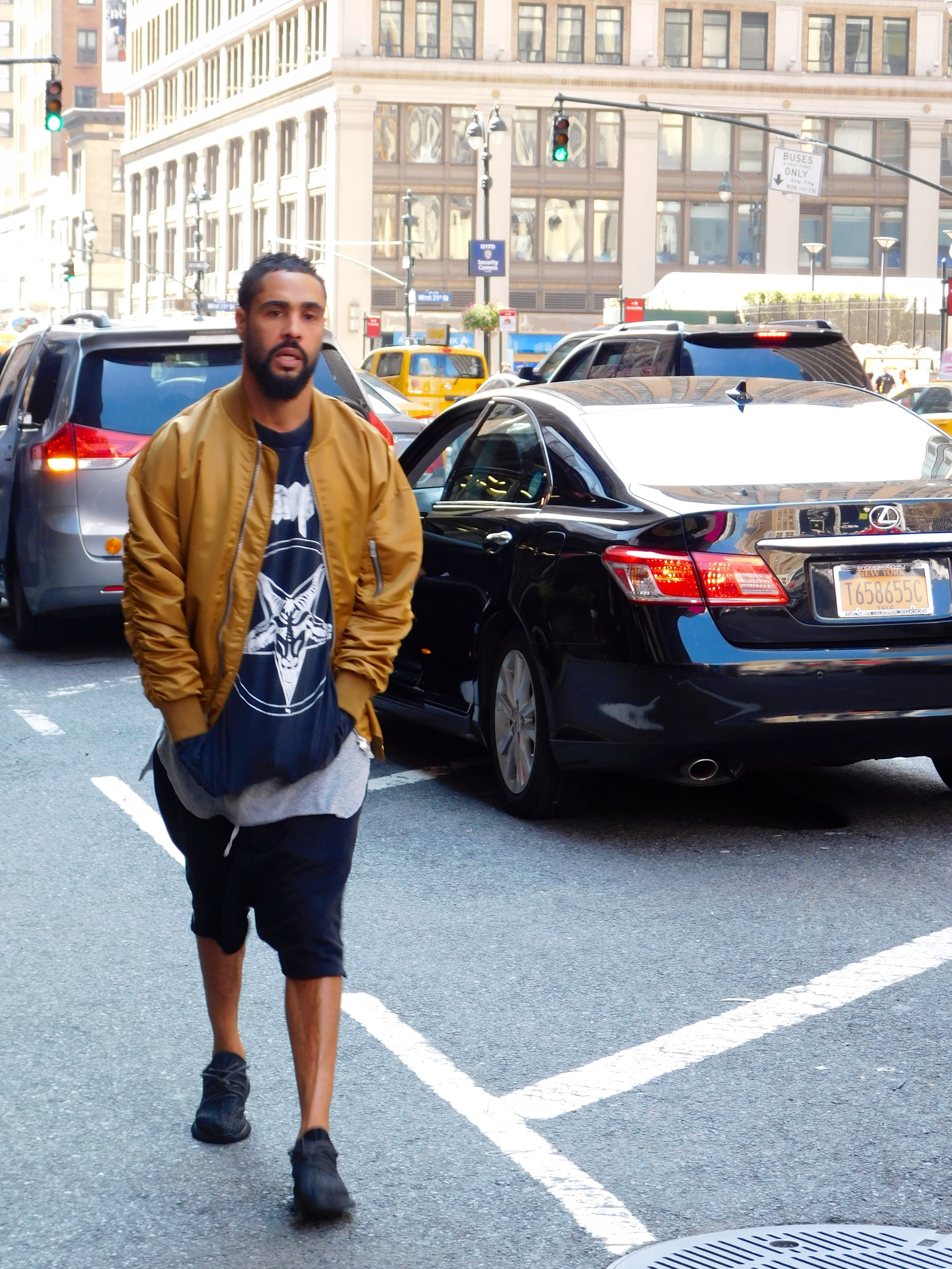 Jerry Lorenzo in Fear Of God's Fourth Collection, and Pirate Black Yeezy Boosts.